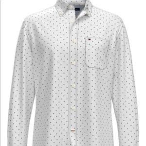 Tommy Hilfiger Men's Hunter LeafPrint Cotton Shirt